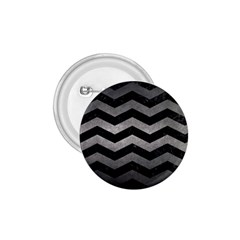 Chevron3 Black Marble & Gray Metal 1 1 75  Buttons by trendistuff