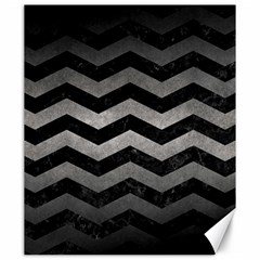 Chevron3 Black Marble & Gray Metal 1 Canvas 20  X 24   by trendistuff