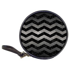 Chevron3 Black Marble & Gray Metal 1 Classic 20 Cd Wallets by trendistuff