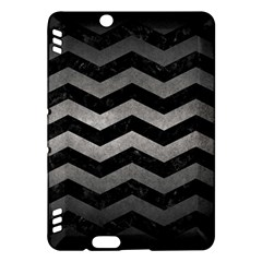 Chevron3 Black Marble & Gray Metal 1 Kindle Fire Hdx Hardshell Case