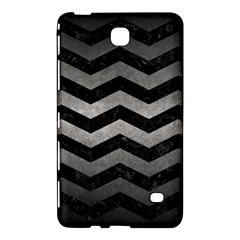 Chevron3 Black Marble & Gray Metal 1 Samsung Galaxy Tab 4 (7 ) Hardshell Case  by trendistuff