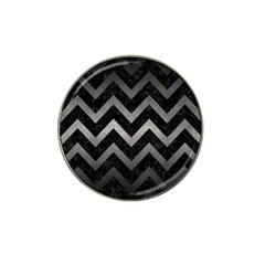 Chevron9 Black Marble & Gray Metal 1 Hat Clip Ball Marker (10 Pack) by trendistuff