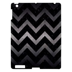 Chevron9 Black Marble & Gray Metal 1 Apple Ipad 3/4 Hardshell Case by trendistuff