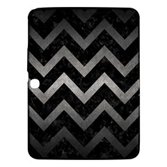 Chevron9 Black Marble & Gray Metal 1 Samsung Galaxy Tab 3 (10 1 ) P5200 Hardshell Case  by trendistuff