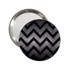Chevron9 Black Marble & Gray Metal 1 (r) 2 25  Handbag Mirrors by trendistuff