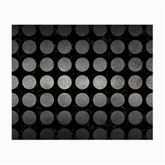 Circles1 Black Marble & Gray Metal 1 Small Glasses Cloth (2 Side) by trendistuff