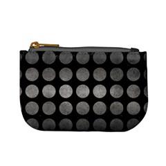 Circles1 Black Marble & Gray Metal 1 Mini Coin Purses by trendistuff