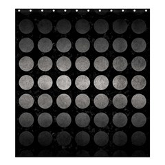 Circles1 Black Marble & Gray Metal 1 Shower Curtain 66  X 72  (large)  by trendistuff