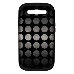 Circles1 Black Marble & Gray Metal 1 Samsung Galaxy S Iii Hardshell Case (pc+silicone) by trendistuff