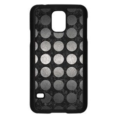 Circles1 Black Marble & Gray Metal 1 Samsung Galaxy S5 Case (black) by trendistuff