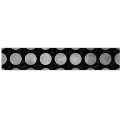 Circles1 Black Marble & Gray Metal 1 Flano Scarf (large) by trendistuff