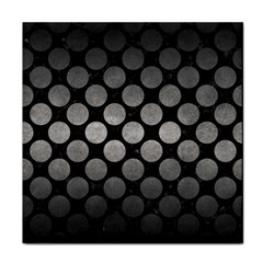 Circles2 Black Marble & Gray Metal 1 Face Towel by trendistuff