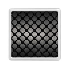 Circles2 Black Marble & Gray Metal 1 Memory Card Reader (square)  by trendistuff