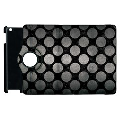Circles2 Black Marble & Gray Metal 1 Apple Ipad 2 Flip 360 Case by trendistuff