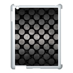 Circles2 Black Marble & Gray Metal 1 Apple Ipad 3/4 Case (white) by trendistuff