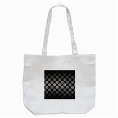 Circles2 Black Marble & Gray Metal 1 Tote Bag (white) by trendistuff