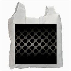 Circles2 Black Marble & Gray Metal 1 (r) Recycle Bag (two Side)  by trendistuff