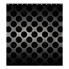 Circles2 Black Marble & Gray Metal 1 (r) Shower Curtain 66  X 72  (large)  by trendistuff