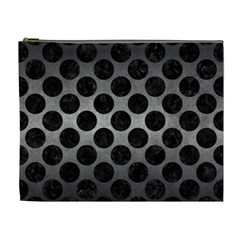 Circles2 Black Marble & Gray Metal 1 (r) Cosmetic Bag (xl) by trendistuff