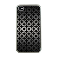 Circles3 Black Marble & Gray Metal 1 Apple Iphone 4 Case (clear) by trendistuff