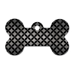 Circles3 Black Marble & Gray Metal 1 (r) Dog Tag Bone (two Sides) by trendistuff