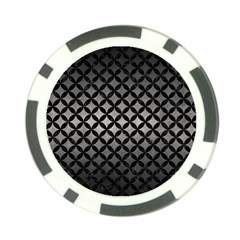 Circles3 Black Marble & Gray Metal 1 (r) Poker Chip Card Guard by trendistuff