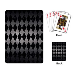 Diamond1 Black Marble & Gray Metal 1 Playing Card by trendistuff