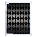 DIAMOND1 BLACK MARBLE & GRAY METAL 1 Apple iPad 2 Case (White) Front