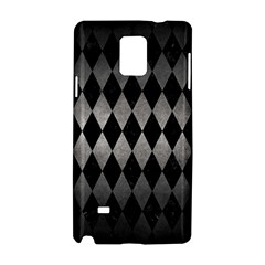 Diamond1 Black Marble & Gray Metal 1 Samsung Galaxy Note 4 Hardshell Case by trendistuff