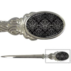 Damask1 Black Marble & Gray Metal 1 Letter Openers by trendistuff