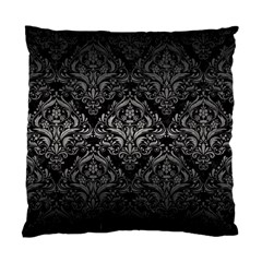 Damask1 Black Marble & Gray Metal 1 Standard Cushion Case (one Side) by trendistuff