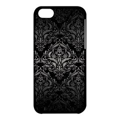 Damask1 Black Marble & Gray Metal 1 Apple Iphone 5c Hardshell Case by trendistuff