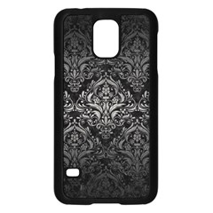 Damask1 Black Marble & Gray Metal 1 Samsung Galaxy S5 Case (black) by trendistuff