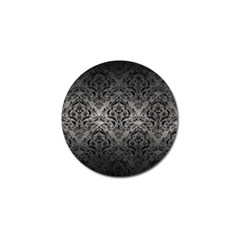Damask1 Black Marble & Gray Metal 1 (r) Golf Ball Marker by trendistuff