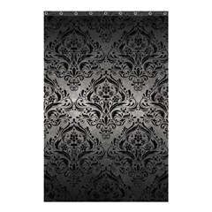 Damask1 Black Marble & Gray Metal 1 (r) Shower Curtain 48  X 72  (small)  by trendistuff