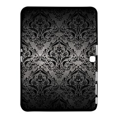 Damask1 Black Marble & Gray Metal 1 (r) Samsung Galaxy Tab 4 (10 1 ) Hardshell Case  by trendistuff