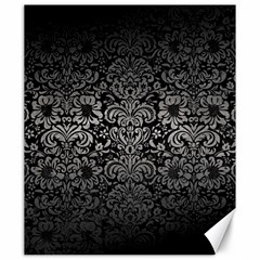 Damask2 Black Marble & Gray Metal 1 Canvas 20  X 24   by trendistuff