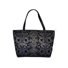 Damask2 Black Marble & Gray Metal 1 Shoulder Handbags by trendistuff