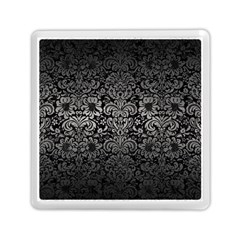 Damask2 Black Marble & Gray Metal 1 Memory Card Reader (square)  by trendistuff