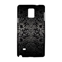 Damask2 Black Marble & Gray Metal 1 Samsung Galaxy Note 4 Hardshell Case by trendistuff