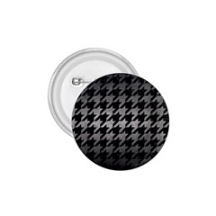 Houndstooth1 Black Marble & Gray Metal 1 1 75  Buttons by trendistuff