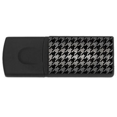 Houndstooth1 Black Marble & Gray Metal 1 Rectangular Usb Flash Drive by trendistuff
