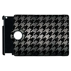 Houndstooth1 Black Marble & Gray Metal 1 Apple Ipad 2 Flip 360 Case by trendistuff