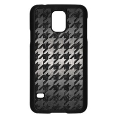 Houndstooth1 Black Marble & Gray Metal 1 Samsung Galaxy S5 Case (black) by trendistuff