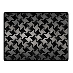 Houndstooth2 Black Marble & Gray Metal 1 Fleece Blanket (small) by trendistuff