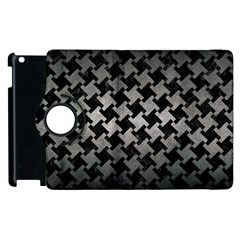 Houndstooth2 Black Marble & Gray Metal 1 Apple Ipad 2 Flip 360 Case by trendistuff