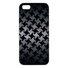 Houndstooth2 Black Marble & Gray Metal 1 Apple Iphone 5 Premium Hardshell Case by trendistuff