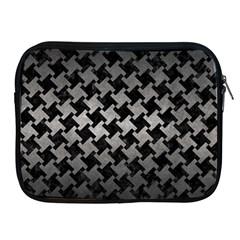 Houndstooth2 Black Marble & Gray Metal 1 Apple Ipad 2/3/4 Zipper Cases by trendistuff