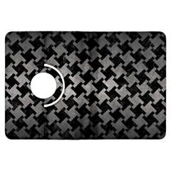 Houndstooth2 Black Marble & Gray Metal 1 Kindle Fire Hdx Flip 360 Case by trendistuff