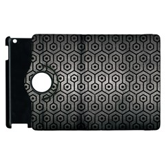 Hexagon1 Black Marble & Gray Metal 1 (r) Apple Ipad 2 Flip 360 Case by trendistuff
